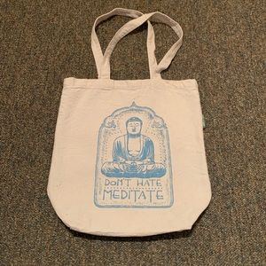 "✌🏼 ""Don't Hate Meditate"" Canvas Tote ✌🏼"